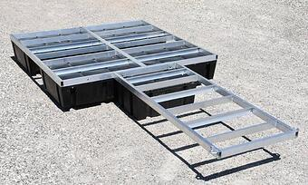 A floating dock kit and walkway without decking
