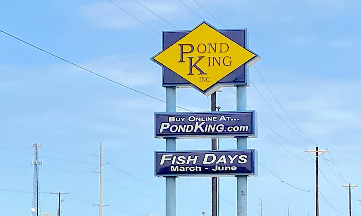 Pond King Fish Days Sign
